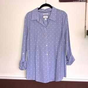 Blue with white polka dot Charter Club dress shirt
